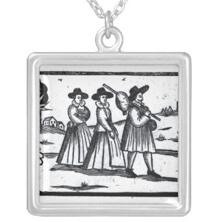 Pilgrims set sail on the Mayflower Silver Plated Necklace