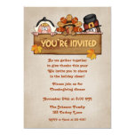 Pilgrims Thanksgiving Invitation