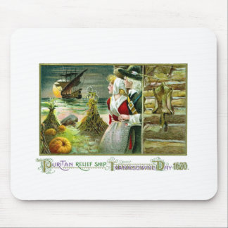 Pilgrim's Thanksgiving of 1620 Mouse Pads