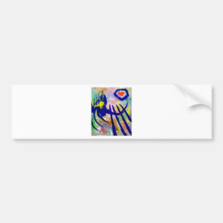 Piliero Abstract Color Bumper Sticker