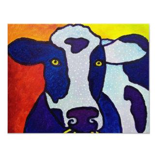 """Piliero de la vaca wow invitación 4.25"""" x 5.5"""""""