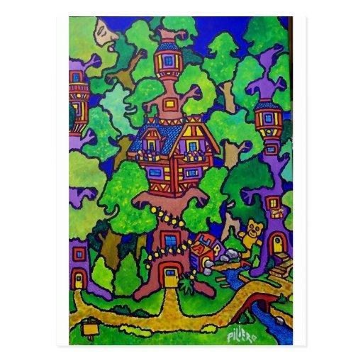 Piliero Magic Treehouse Postcard