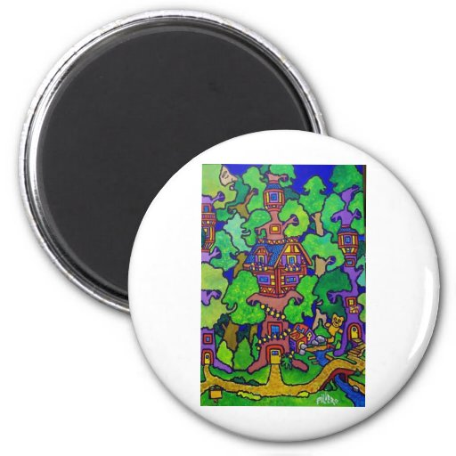 Piliero Magic Treehouse Refrigerator Magnets