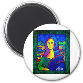Piliero Mona Lisa 2 Inch Round Magnet