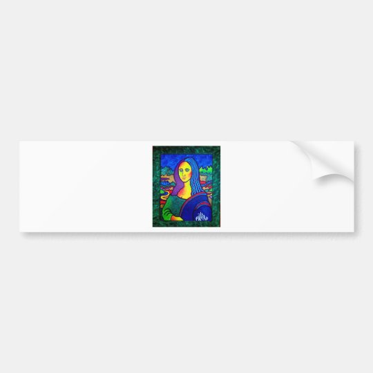 Piliero Mona Lisa Bumper Sticker