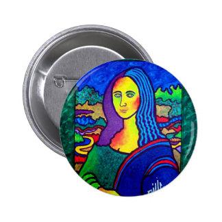 Piliero Mona Lisa Pin Redondo De 2 Pulgadas