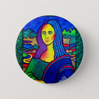 Piliero Mona Lisa Pinback Button