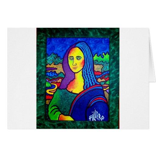 Piliero Mona Lisa Tarjeta De Felicitación
