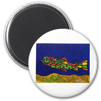 Piliero Trout 2 Inch Round Magnet