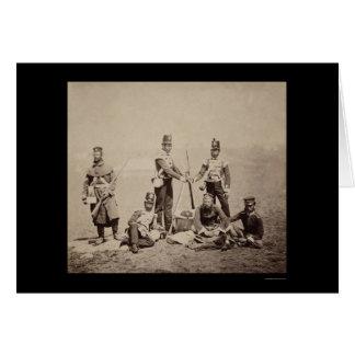 Piling Arms Crimean War 1855 Greeting Card