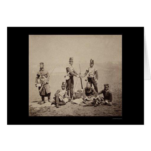 Piling Arms Crimean War 1855 Card