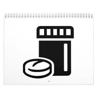 Pill box calendar