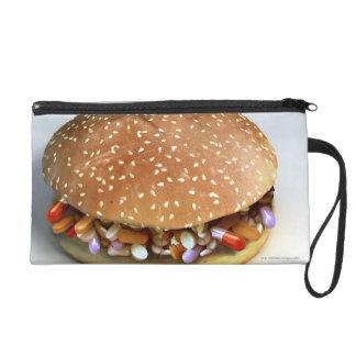 Pill Burger Wristlet Purses
