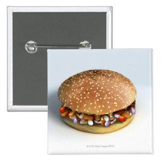 Pill Burger Button