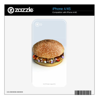 Pill Burger Decals For iPhone 4