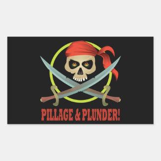 Pillage And Plunder Rectangular Sticker