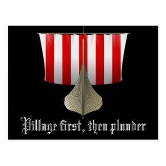 Pillage First, Then Plunder Postcard