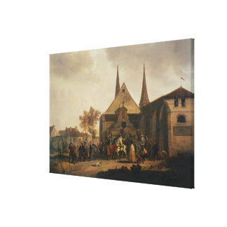 Pillage of a Church during the Revolution Canvas Print
