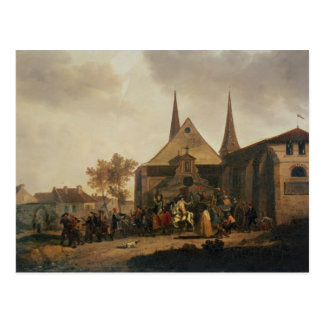 Pillage of a Church during the Revolution Postcard