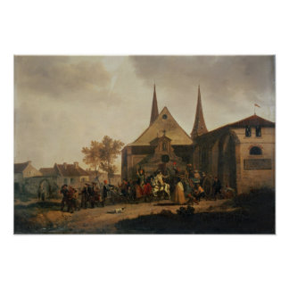 Pillage of a Church during the Revolution Poster