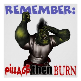 Pillage Then Burn Poster