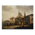 Pillaje de una iglesia durante la revolución postal