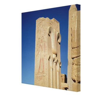 Pillar decorated with stylised papyrus plants canvas prints
