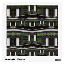 Pillar House Pattern Wall Decal