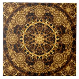Pillar of Ages Mandala Ceramic Tile