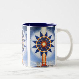 Pillar of Fire by Lynda Vugler Two-Tone Coffee Mug