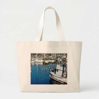 Pillar Point Harbor Jumbo Tote Bag