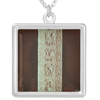 Pillar showing the months August to December Silver Plated Necklace