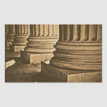Pillars at Supreme Court Vintage Photograph Rectangle Sticker