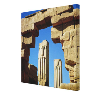 Pillars decorated with stylised lotus gallery wrapped canvas