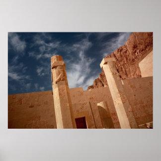 Pillars in Hatshepsut's Temple Poster