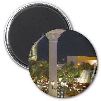 Pillars Las Vegas Night Venitian 2 Inch Round Magnet