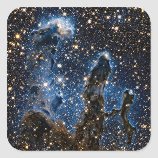 Pillars Of Creation Eagle Nebula Near Infrared Square Sticker