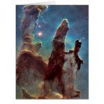 Pillars of creation large greeting card
