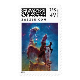 Pillars of Creation M16 Eagle Nebula Postage Stamp