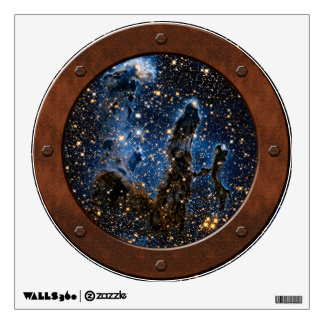 Pillars Of Creation Near-Infrared Porthole Wall Decal