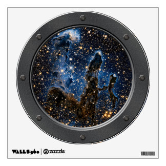 Pillars Of Creation Near-Infrared Porthole Wall Sticker