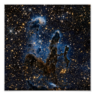 Pillars Of Creation Near-Infrared Poster