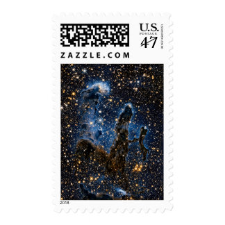 Pillars Of Creation Near-Infrared Stamp