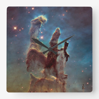 Pillars of creation square wall clock