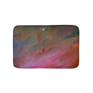 Pillars of Dust in Billowing Veils, Orion Nebula Bathroom Mat