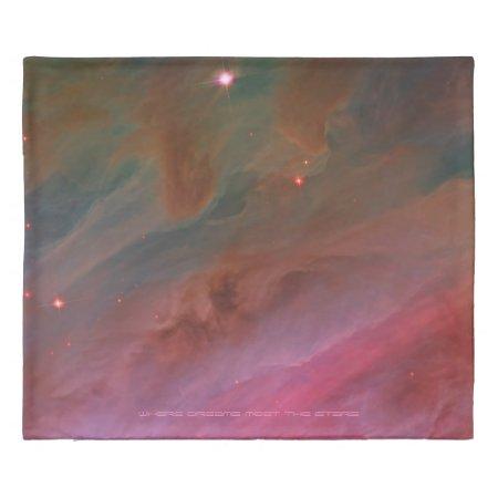Pillars of Dust in Orion Nebula Hubble space image Duvet Cover