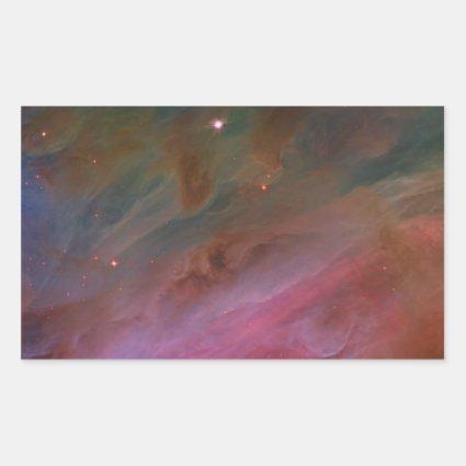 Pillars of Dust, Orion Nebula Rectangular Sticker