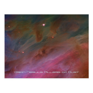 Pillars of Dust, Orion Nebula telescope image Post Cards