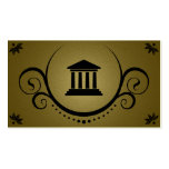 pillars of justice sophistications business cards
