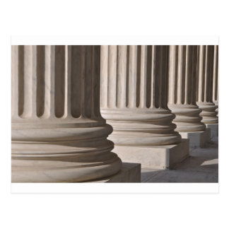 Pillars of Law and Justice at Washington DC Postcard